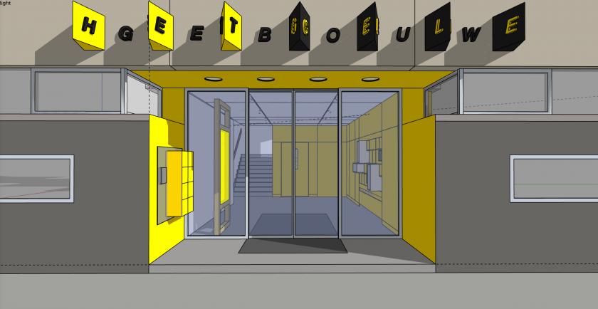 Entrance Gele Gebouw